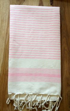 Hand Loomed Moroccan Hammam Towel/Beach/Sarong/Throw by Artofvintagesouk on Etsy