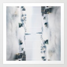 Collect your choice of gallery quality Giclée, or fine art prints custom trimmed by hand in a variety of sizes with a white border for framing. Reflection Art, Surrealism, Print Design, Fine Art Prints, Photo Wall, City, Gallery, Frame, Picture Frame