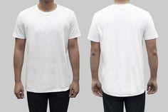 T-shirt branca dianteira e traseira isol. T Shirt Design Template, Design Templates, T Shirt Png, Plain White T Shirt, T Shirt Branca, Blank T Shirts, Shirt Mockup, Male Body, Mens Tees