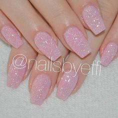 Fairly in pink Summer Toe Nails, Summer Acrylic Nails, Best Acrylic Nails, Polygel Nails, Cute Nails, Stylish Nails, Trendy Nails, Pink Glitter Nails, White Acrylic Nails With Glitter