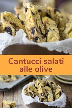 Cantucci salati vegani alle mandorle e olive Salted vegan cantucci with almonds and olives Vegan Recipes Easy, Wine Recipes, Italian Recipes, Snack Recipes, Cooking Recipes, Italian Foods, Vegetarian Recipes, My Favorite Food, Favorite Recipes