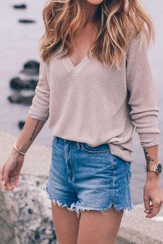 V neck sweater   similar style available on SiiZU.com