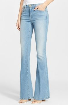 Free shipping and returns on Frame Denim 'Le High Flare' Flare Leg Jeans (Lovella) at Nordstrom.com. A high, on-trend rise balances the flared legs of these retro-inspired jeans crafted from premium L.A.-made denim. Subtle fading detailing the light-blue wash offers figure-flattering definition.
