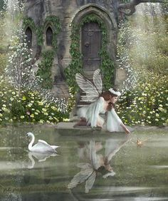 ≍ Nature's Fairy Nymphs ≍ magical elves, sprites, pixies and winged woodland faeries - Fairy Dust, Fairy Land, Fairy Tales, Magical Creatures, Fantasy Creatures, Fantasy Kunst, Fantasy Art, Elves And Fairies, Fairy Pictures