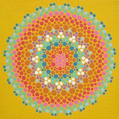 Print of Goldenrod Mandala - Geometric Modern Abstract Art. $15.00, via Etsy.