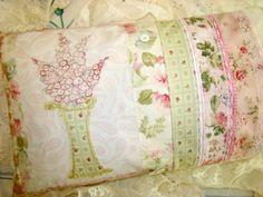 Pink Larkspur Wildflower Bouquet PDF ePattern Patchwork Pillow CGS E14