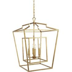 Wrought Studio Spotlight your dining or living room with a touch of modern, gilded elegance with this large, geometric Chandeliers light, featuring opulent candelabra lighting with this chandelier. Lantern Ceiling Lights, Lantern Chandelier, Rectangle Chandelier, Lantern Pendant, Chandelier Lighting, Candelabra, Chandeliers, Kitchen Lights Uk, Large Lanterns
