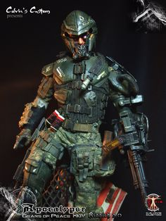 Calvin's Custom one sixth scale original design series Gears of Peace MKIV Apocalypse Riddick 2.0 & Bishop 2.0 custom figures Original Design custom series GEARS OF PEACE (G.O.P) was inspired by the game franchises Gears Of War, Metal Gear Solid and Halo, G.O.P was developed and customed by Calvin's Custom. For more: https://www.facebook.com/calvinscustom
