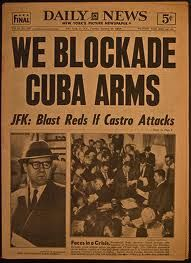 On this day in 1962 - The Cuban missile crisis began when President John F. Kennedy was informed that reconnaissance photographs had revealed the presence of missile bases in Cuba. Newspaper Headlines, Old Newspaper, Cuban Missle Crisis, Historia Universal, New York Pictures, Famous Pictures, This Is A Book, Before Us, Cold War