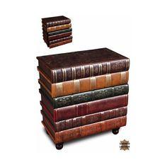 Sarreid Florentine Books Chairside Chest ($467) ❤ liked on Polyvore featuring home, furniture, storage & shelves, dressers ve florentine furniture