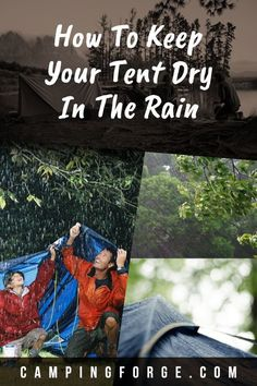 Use these tips to keep yourself dry when it's raining on your camping trip. Camping In The Rain, Camping Life, Camping Gear, Camping Hacks, Outdoor Camping, Camping Kitchen, Backpacking, Camping Checklist, Camping Essentials