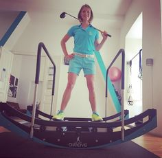 Golferin Nadine Dreher im Interview Golfer, Gym Equipment, Interview, Training, Bike, Sports, Coaching, Bicycle Kick, Trial Bike