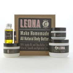 Make natural homemade body butter with this kit.