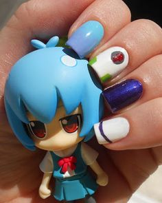 Rebuild of Evangelion / Neon Genesis Evangelion: Ayanami Rei 00 plugsuit version inspired nail art