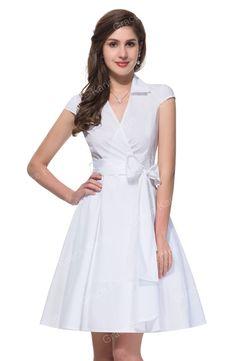 Elegant Turn Down Collar Short Sleeve Vintage dresses Plus Size Women Rockabilly Swing Dress 1950s Vestido Casual Style 6087 Alternative Measures