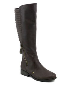 Look what I found on #zulily! Brown Archer Knee-High Riding Boot by OLIVIA MILLER #zulilyfinds