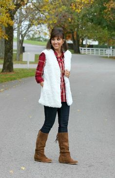 How to style a fur vest  - my best tips for styling a vest for every women over 40.