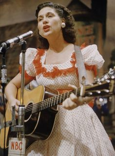 """Kitty Wells: Ellen Muriel Deason (8-30-1919 – 7-16-2012) She broke down a female barrier in country music in 1952 with """"It Wasn't God Who Made Honky Tonk Angels"""". She was the first female to top the country charts, and was the first female country star. Wells ranks as the sixth most successful female vocalist in the history of Billboard's country charts. She was inducted into the Country Music Hall of Fame and the 3rd country artist to receive the Grammy Lifetime Achievement Award."""