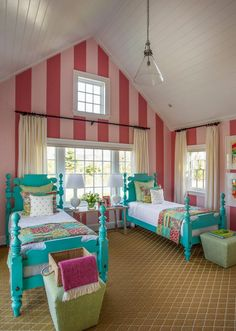 cute girls' room from the HGTV Dream Home 2015