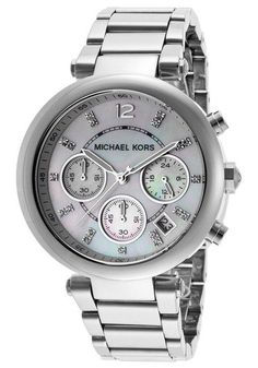 Parts and Accessories 51021: Michael Kors Women S Mk5700 Chronograph Parker Stainless Steel With Mop Dial -> BUY IT NOW ONLY: $110.99 on eBay!