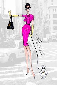 #Hayden Williams Fashion Illustrations.  #NYFW: 'Girl on the Go' by Hayden Williams.