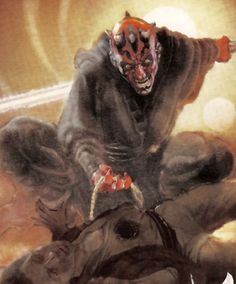 Darth Maul cover art for Star Wars Insider 88 cover 3 - by Christian Alzmann