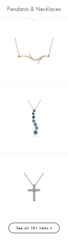 """Pendants & Necklaces"" by applesofgoldjewelry ❤ liked on Polyvore featuring jewelry, necklaces, pendants, diamond jewelry, diamond jewellery, blue diamond jewelry, blue pendant, charm pendants, cross necklace and 14 karat white gold necklace"