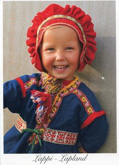 Traditional Finnish Clothing For Girls Lapp girl in costume