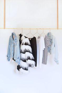 burkatron.: DIY | hanging clothes rail