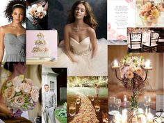 Peach & Gray wedding scheme