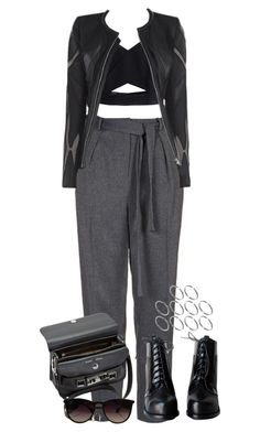 """Sin título #472"" by oh-rose ❤ liked on Polyvore featuring Topshop, Allegra, ASOS, Proenza Schouler and Ray-Ban"