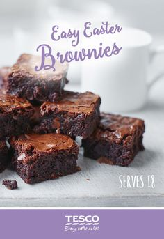 For the perfect sweet treat this Easter, get creative with your leftover chocolate eggs and rustle up a batch of these beautiful and super easy brownies. Brownie Recipes, Chocolate Recipes, Cookie Recipes, Chocolate Truffles, Chocolate Brownies, Yummy Treats, Sweet Treats, Yummy Food, Easy Brownies