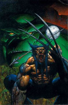 Wolverine and The Hulk by Simon Bisley