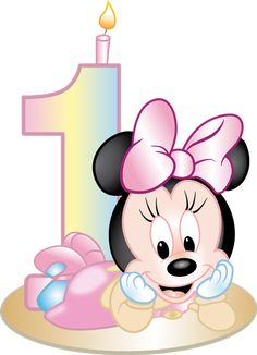 Minnie Mouse Cupcake Toppers, Minnie Mouse Decorations, Minnie Mouse Pink, Baby Mouse, Mickey Minnie Mouse, Baby Mickey, Happy Birthday Babe, Birthday Wishes, Mickey Mouse Kunst