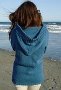 Stockinette Stitch Hooded Cardigan - Learning how to make a sweater has never been easier. The Stockinette Stitch Hooded Cardigan is an easy and classic sweater pattern that you can easily pull off with a bit of patience. The beautiful hood at the back of the cardigan sets this sweater apart from other easy knitting patterns and will keep you extra warm and toasty. This loose cardigan still holds its shape, ensuring that you look absolutely gorgeous when you wear it.