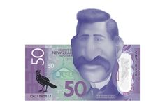 Sir Apirana Ngata caricature on the $50 New Zealand bank note.  Illustration made in Photoshop