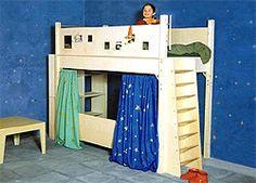 Kindermöbel aus Holz - Hochbett