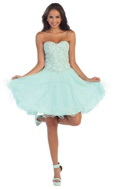 Short Cocktail Prom Corset Back Fitted Homecoming Dress - The Dress Outlet - 1
