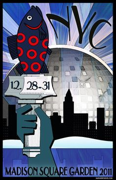 Original concert lot poster for PHISH at Madison Sqare Garden in NYC 2011. 11x17 card stock. Limited edition of only 100!! Signed and numbered by artist Maria DiChiappari.