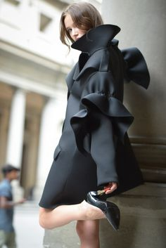 Perfect for shopping sprees (Coat by Simone Rocha)