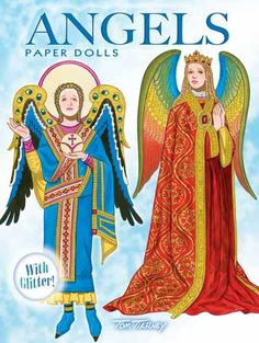 Angels Paper Dolls: with Glitter!