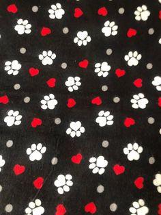 Black Paw Flannel Pajama Pants 76097bb7c