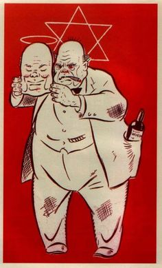 Nazi propaganda poster. Winston Churchill.