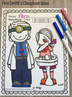 Dental Health Coloring Pages - 20 Pages of Dental Health Coloring Book Fun February Colors, Early Finishers Activities, Dental Health Month, Parent Volunteers, Health Activities, Coloring Book Pages, Writing A Book, Elementary Schools, Indoor Recess
