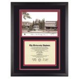 California State University Fresno Diploma Frame with Lithograph Art PrintBy Old School Diploma Frame Co.