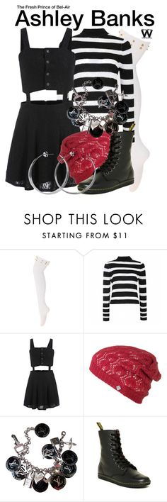 """The Fresh Prince of Bel-Air"" by wearwhatyouwatch ❤ liked on Polyvore featuring Ally Fashion, Krochet Kids, Louis Vuitton, Dr. Martens, Coco's Liberty, television and wearwhatyouwatch"
