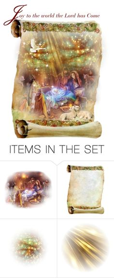 """""""Joy to the World the Lord Has Come"""" by thresholdpaperart ❤ liked on Polyvore featuring art and artset"""