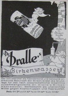 Dr. Dralle Birkenwasser   Reclame (1929)