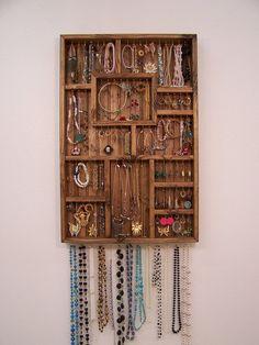homemade jewelry organizer Jewelry Organizer Earring and Necklace