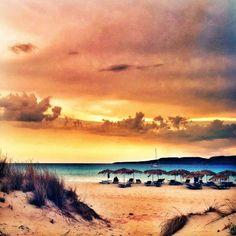 Elena Papa - Google+ - elena papa - Simos beach Elafonisos Greece Mycenae, Sky And Clouds, Greek Islands, Athens, Greece, Around The Worlds, Sunset, Landscape, City